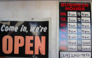 Our Hours